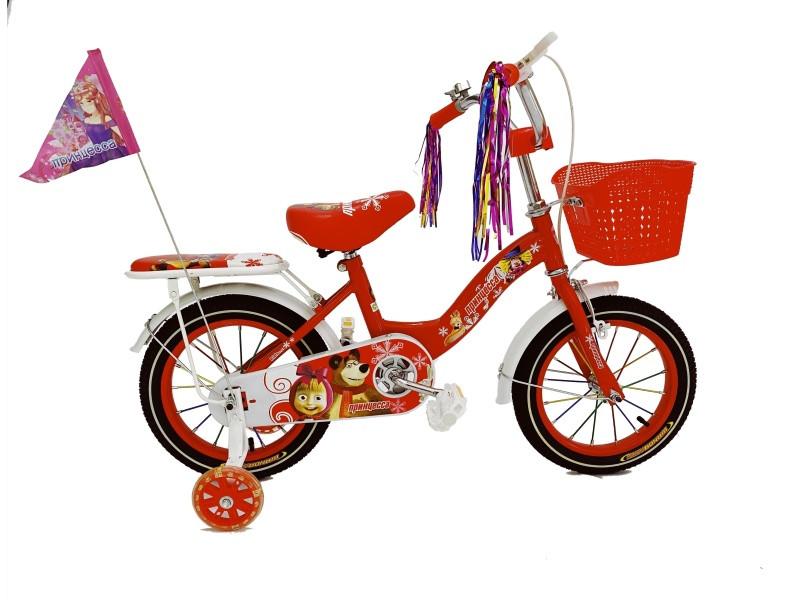 Велосипед Барс Принцесса 12 2021 красный
