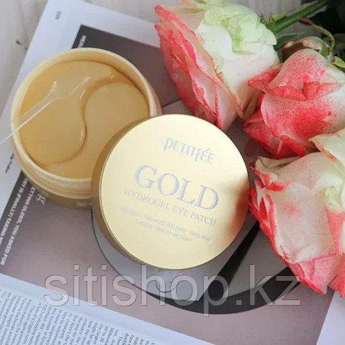Petitfee Gold Hydrogel Eye Patch +5 Golden complex - Гидрогелевые патчи для области вокруг глаз с золотом