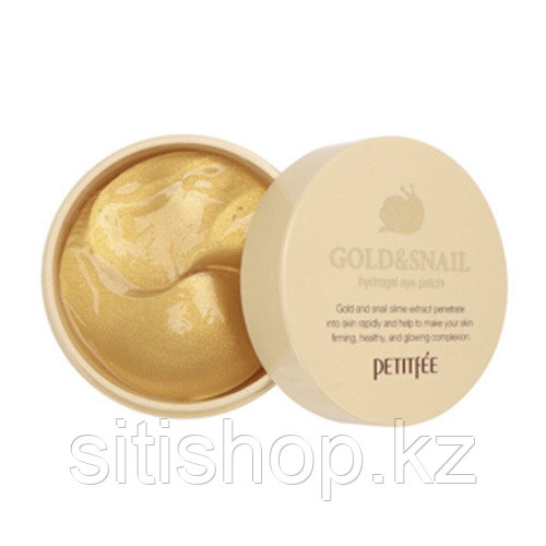 Gold Snail Eye Patch Wrinkle Free - Гидрогелевые патчи для глаз с муцином улитки против морщин 60 шт