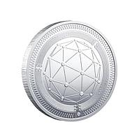 Сувенирная монета QTUM, серебро, толщина 3 мм