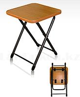 Табурет складной металлический с деревянным сиденьем Nika 5052