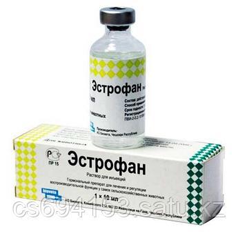 Эстрофан 1*10ml.Синтетический аналог простагландина F2a  (клопростенола) с лютеолитическим аффектом