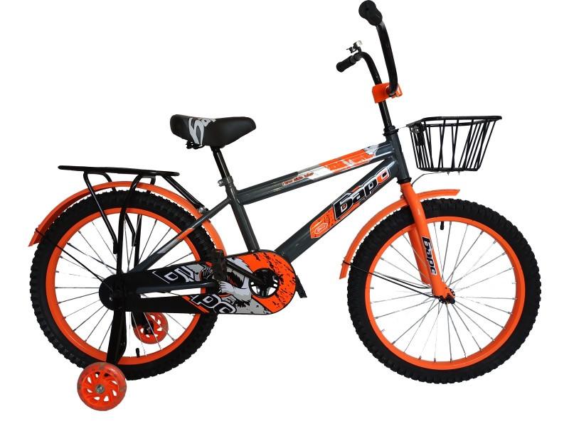Велосипед Барс BE 20 2020 17 серый-оранжевый