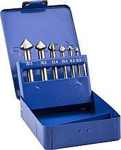 Набор ЗУБР Зенкеры конусные с 3-я реж. кромками, сталь P6M5, для раззенковки М3, М4, М5, М6, М8, М10