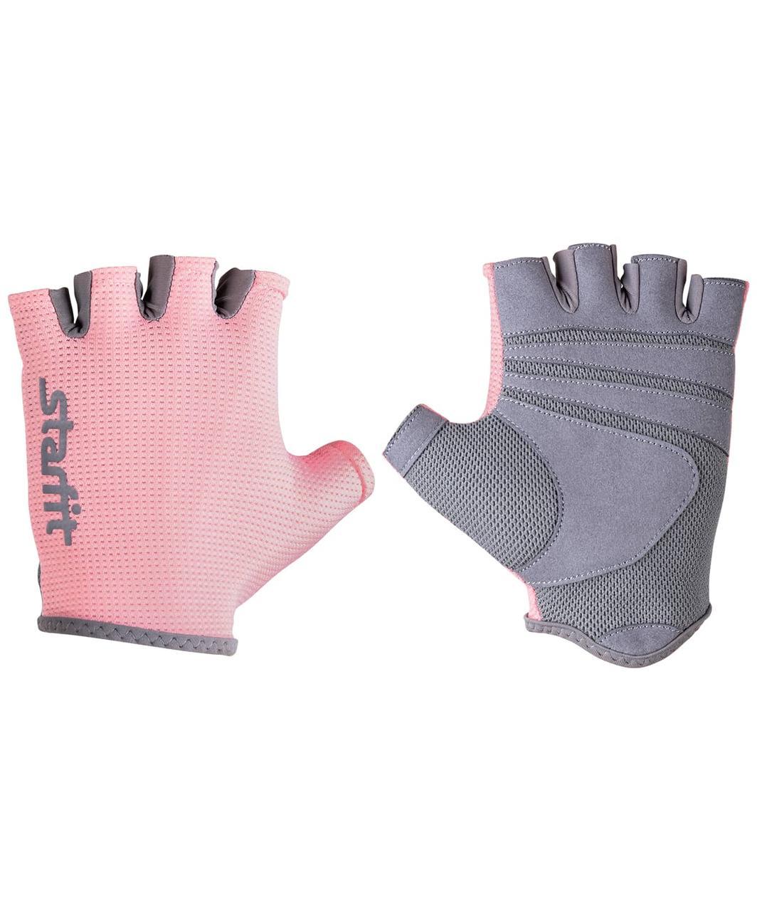 Перчатки для фитнеса SU-127, розовый/серый Starfit