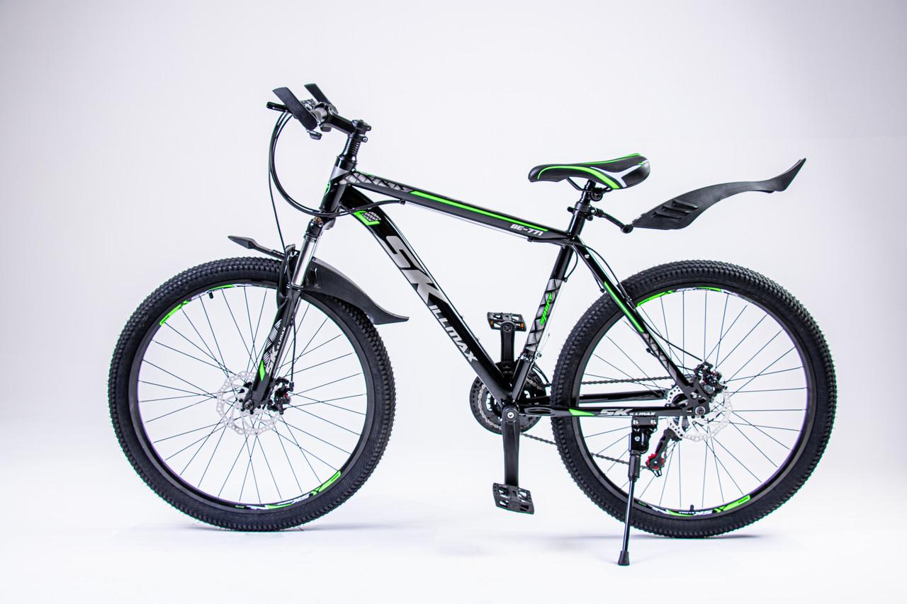 Елосипед Skillmax  черный-зеленый