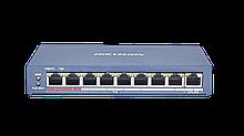 Hikvision DS-3E0109P-E(C) коммутатор неуправляемый PoE 8 портов