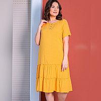 Платье домашнее женское 4XL / 56-58, Оранжевый