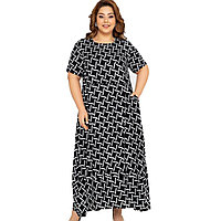 Платье домашнее женское 3XL / 54-56, Черный