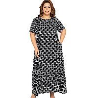 Платье домашнее женское 4XL / 56-58, Черный