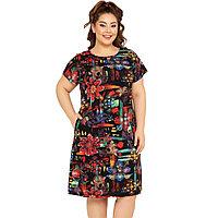 Платье домашнее женское 1XL / 50-52, Черный