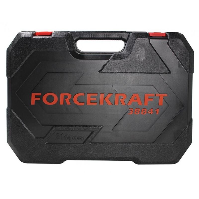 Набор инструментов 216пр.1/4''3/8''1/2''(6гр.)(4-32мм) FORCEKRAFT - фото 4