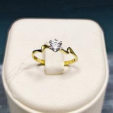 Кольцо с цирконом / золото / размер 18