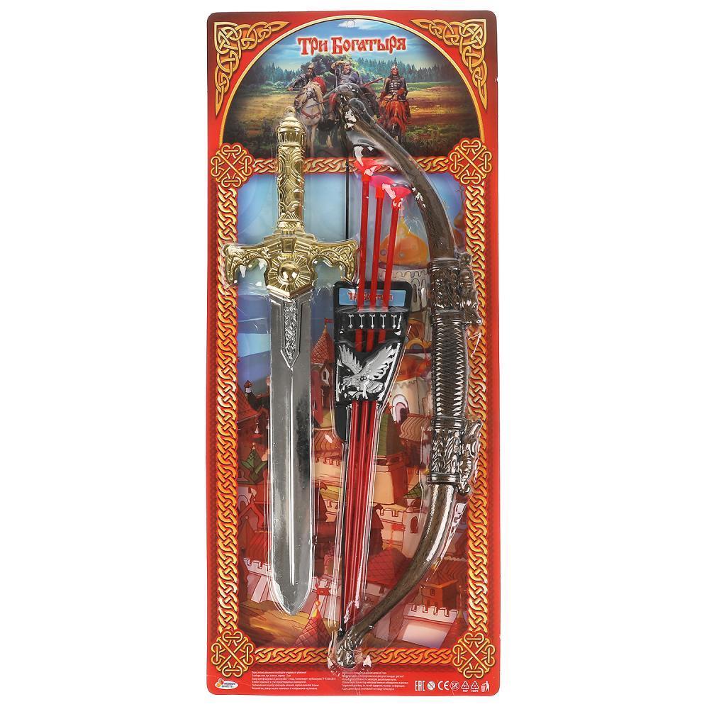 Набор Оружия Три богатыря: меч, лук, стрелы