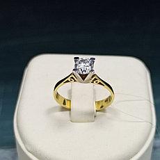 Кольцо с цирконом Roberto Bravo / Золото / размер 18