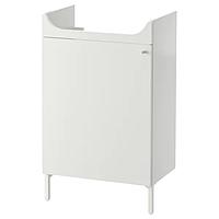 Шкаф под раковину НЮШЁН белый 50x83 см ИКЕА IKEA