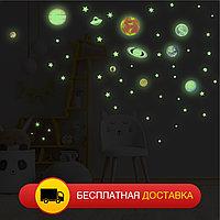 Светящаяся наклейка ночник Планеты «Люми Зуми» формата А4