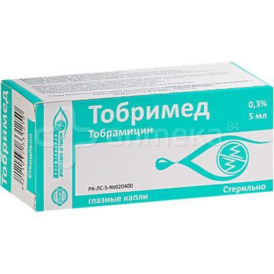 Тобримед 0,3% 5 мл капли глазные