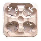 Держатель для 4-x стаканов СОЭМЗ L20 см W20 см H5 см, бумага
