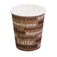 Стакан бумажный для горячих напитков Паперскоп Рус Coffee new 185 мл