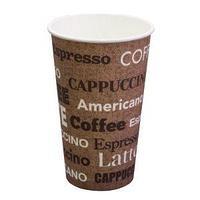 Стакан бумажный для горячих напитков Паперскоп Рус Coffee new 400 мл