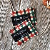 Салфетка влажная одноразовая в индивидуальной упаковке Стаирс Freshday, клетка