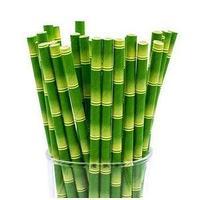 Трубочки для напитков бумажные ГЕОВИТА D6 мм L197 мм, бамбук