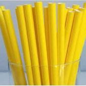 Трубочки для напитков бумажные ГЕОВИТА D6 мм L197 мм, жёлтые