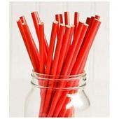 Трубочки для напитков бумажные ГЕОВИТА D6 мм L197 мм, красные