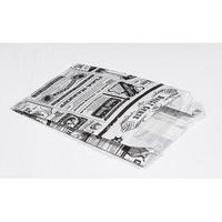 Пакет бумажный с плоским дном Альянс-3 Magic News 110х175х50 мм, белый