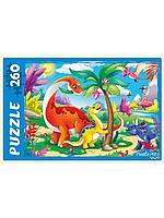 Пазлы 260 элементов Динозавры