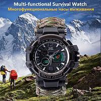 Часы-браслет 6-в-1 для выживания из паракорда водонепроницаемые YUZEX COBRA G6