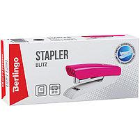 """Степлер №10 Berlingo """"Blitz"""" до 10л., пластиковый корпус, розовый, фото 2"""