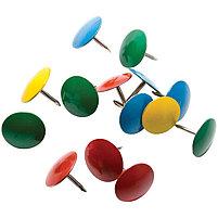 Кнопки канцелярские/гвоздики Berlingo, цветные 10мм, 50шт., карт. упак., фото 2