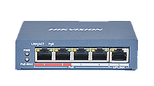 Hikvision DS-3E0105P-E(B) неуправляемый PoE-коммутатор