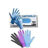 Перчатки нитриловые Panagloves ,смотровые, не стерильные, Размер: S,L. цвет :розовый, черный