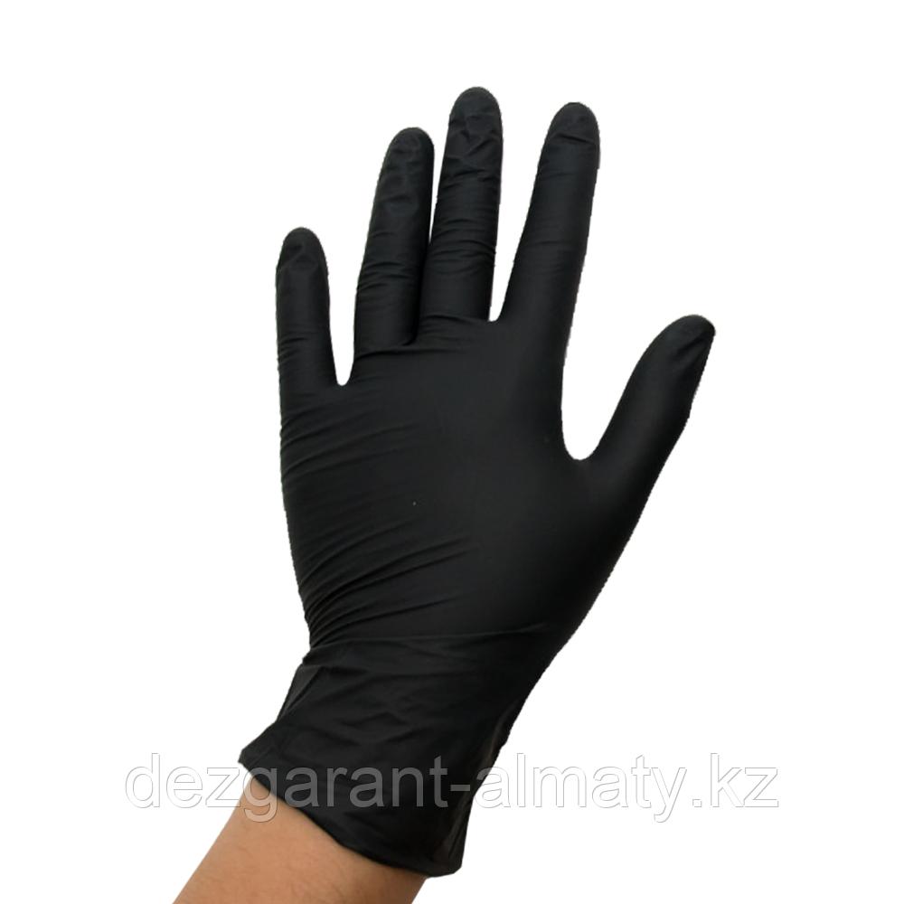 Перчатки из винила черные L (коробка 100 шт)