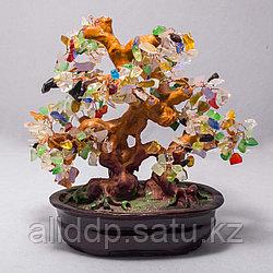 """""""Дерево с разноцветными камнями по фэн-шуй"""""""