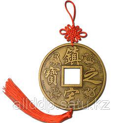 Большая монета фен шуй для защиты от негативной энергии, 10 см