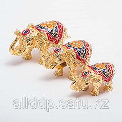 """Набор сувениров-шкатулок """"Три индийских слоника"""""""