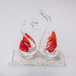 """Статуэтка из стекла """"Лебеди"""" (11см/10см)"""