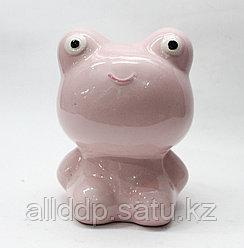 "Копилка ""Лягушка"", розовая, 13*8 см"