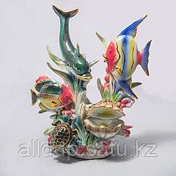 """Фарфоровый сувенир """"Рыбки с жемчужиной"""""""