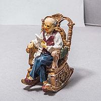 """Украшение для дома """"Дедушка в кресле"""" (12см)"""