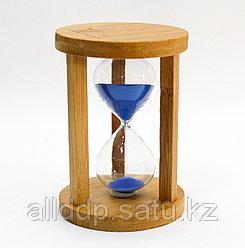 Песочные часы, деревянные, 13*8 см, 5 мин