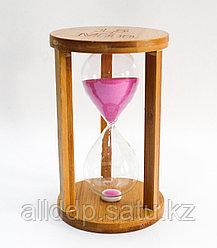 Песочные часы, деревянные, 17*10 см, 15 мин