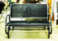 Скамейка-качалка (черная), 123х70х91см