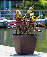 Кашпо для цветов с автополивом Leizisure HG-3109, 17,5x17,5x15 см, коричневый