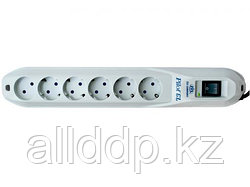 """Сетевой фильтр """"Pilot GL сетевой фильтр,вольтметр,6 розеток(10A,50-60Hz,220-230V) white,3m M:HE-802"""""""