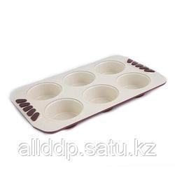 5558 FISSMAN Форма для выпечки 6 кексов (углеродистая сталь с керамическим антипригарным покрытием)